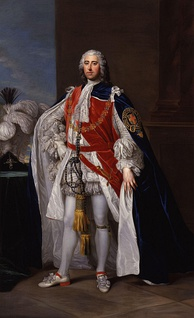 Henry Pelham-Clinton KG, 2nd Duke of Newcastle-under-Lyme. Portrait by William Hoare in the National Portrait Gallery, London.