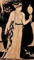 Греческое платье на вазе 400 года до н.э.