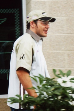 Jacques Villeneuve (pictured at the 2002 USGP) was the driver of the number 11 BAR 004.