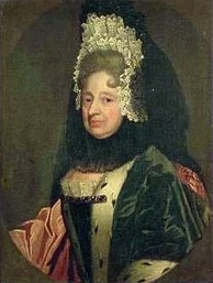 Sophia as dowager Electress of Hanover, around the time she was proclaimed heir presumptive of the British crown.