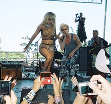 "Performing ""Magnetic Baby"" with Lady Gaga at Lollapalooza, 2010."