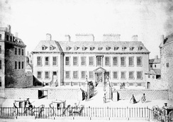 Leicester House in an engraving of 1748