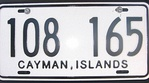 Cayman Islands plate on a hired motorbike