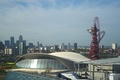 The London Aquatics Centre with the ArcelorMittal Orbit on the right