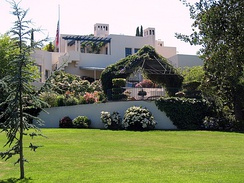 The Lou Henry Hoover House in Palo Alto, California, the couple's first and only permanent residence