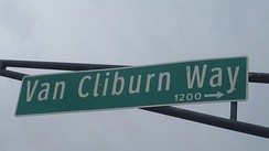 Van Cliburn Way in the Fort Worth Cultural District