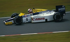 Nigel Mansell's Williams FW10 used during the 1985 season