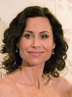 The skin features shown in a portrait of Minnie Driver have been manipulated to create the image on the right.