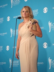 Miranda Lambert in the press room at the 2010 Academy of Country Music Awards in April 2010