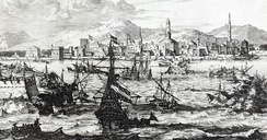 View of Mocha, Yemen during the second half of the 17th century