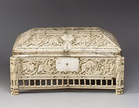 The Morgan Casket, an 11th-century ivory casket attributed to Southern Italy. Currently in the collection of the Metropolitan Museum of Art.