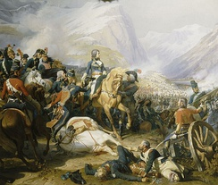 Napoleon at the Battle of Rivoli, 14 January 1797