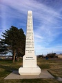 Obelisk commemorating Ozark Trail (auto trail) in Farwell, Texas