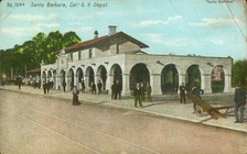 Santa Barbara station, in Mission Revival style.
