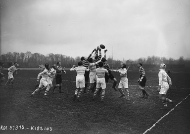 Leicester's match against Racing club de France in February 1923
