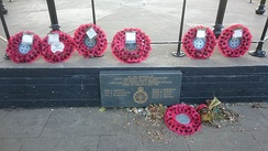 Memorial to the soldiers killed in Regent's Park in the 1982 Hyde Park and Regent's Park bombings