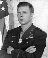 Medal of Honor recipient Major Richard Bong in Officer's Service Dress