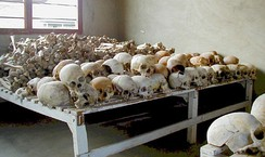Skulls in Murambi Technical School