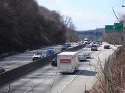 The Schuylkill Expressway near Conshohocken, close to the interchange with I-476