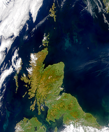 Scotland as seen from satellite