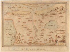 "The Carte de Tendre was ""conceived as a social game during the Winter of 1653–1654"" by Madelaine de Scudery, and a printed copy was ""later incorporated into the first volume of her coded novel, Clelie."" (Reitinger 1999, 109)."