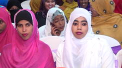Young Somali women wearing the hijab.
