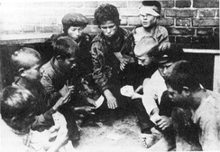 Street children during the Russian Civil War