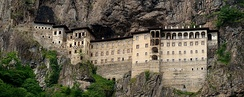 The Sumela Monastery, south of Trabzon in Eastern Turkey. Built in 4th century (estimated 386 AD).