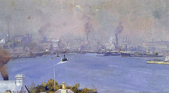 Sydney Harbour from Milsons Point  by Tom Roberts,  1897. Artists' camps flourished around Sydney Harbour in the 1880s and 1890s.