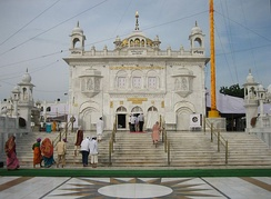 Takht Sri Hazur Sahib, Nanded, built over the place where Guru Gobind Singh was cremated in 1708, the inner chamber is still called Angitha Sahib.