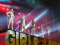 Pop group Girls Aloud, pictured above, performed their final concert together at the venue in 2013
