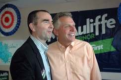Northam ran for lieutenant governor as Terry McAuliffe's running mate.