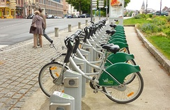 Vélam public bicycle sharing system in Amiens.