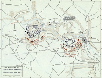 Battle of Chancellorsville, 4 May 1863 (Situation at 1800)