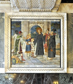 19th-century mosaic in Westminster Cathedral, Non Angli sed Angeli