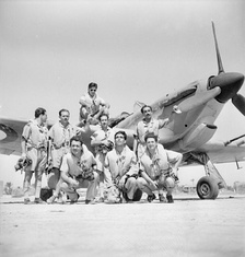 Greek pilots of the 335th Fighter Squadron in Egypt (1942).