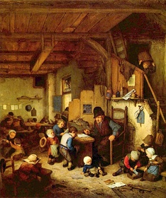 Dutch schoolmaster and children, 1662
