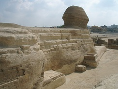 Back of the Great Sphinx, Giza, Egypt