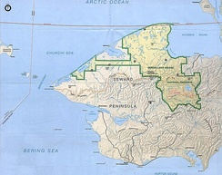 Much of the peninsula is part of the Bering Land Bridge Preserve, administered by the National Park Service
