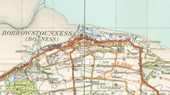 A map of Borrowstounness from 1945