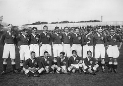 The British Lions before playing the 4th. test v. Argentina during their second tour to the country in 1927