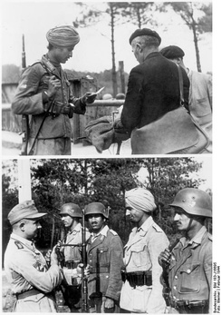 Troops of the Legion Freies Indien, France, February 1944.