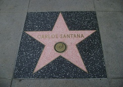Santana's star on the Hollywood Walk of Fame