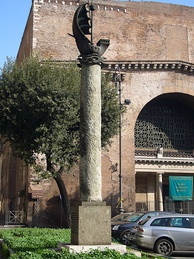 Column dedicated to Paris near the Baths of Diocletian in Rome