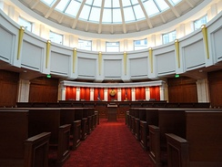 The Colorado Supreme Court courtroom in Denver