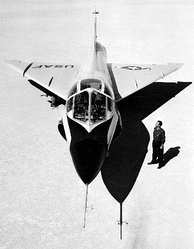 A TF-102A, illustrating the widened cockpit