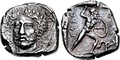 Coin of Perikles, last king of Lycia. Circa 380–360 BC.