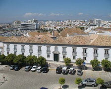 A panoramic view of Faro, the capital of the Algarve