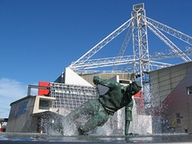 The Splash commemorates Preston legend Tom Finney.
