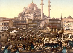 Yeni Mosque and Eminönü bazaar, Constantinople, c. 1895